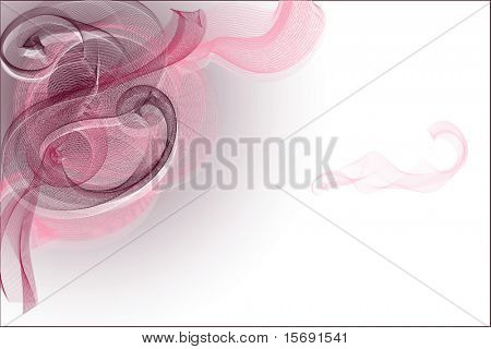 Pink abstract swirls with room for copy