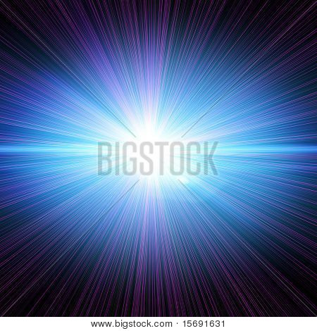 Laser beams on black