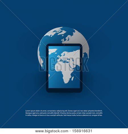 Global Mobile Technology, IT, Networks, Social Media Concept Design