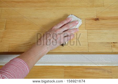 Wooden Stairs Sanding
