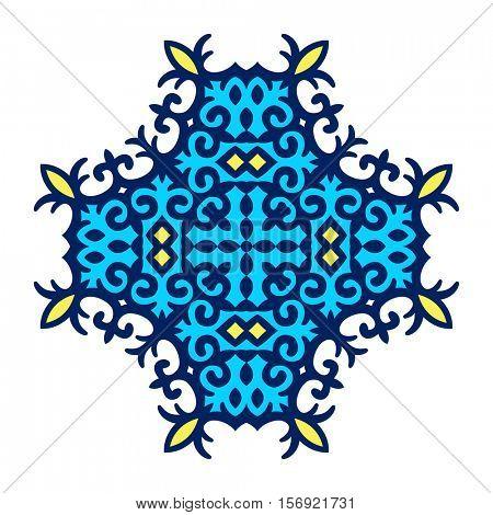 Kazakh ornament, Isolated design element, Vector illustration