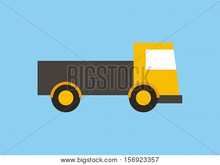 cargo truck vehicle icon over blue background. vector illustration
