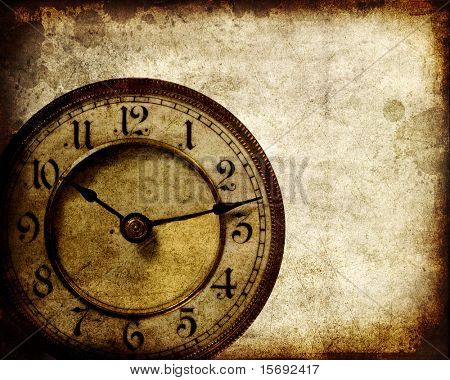 Vintage clock grunge background