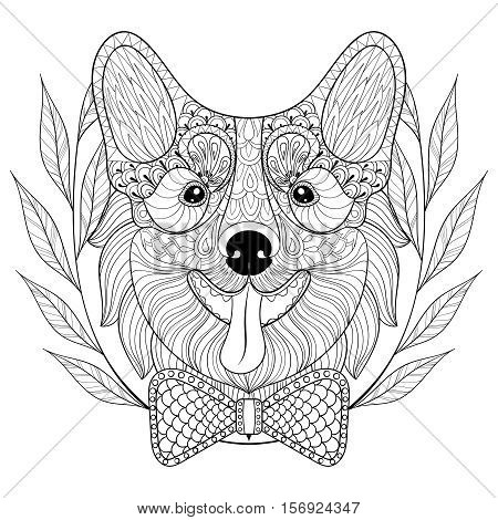 Zentangle Welsh Corgi Vector Photo Free Trial Bigstock