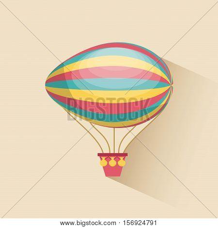 air balloon vehicle. colorful design. vector illustration