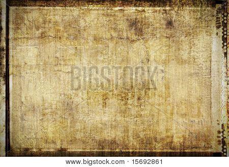 Grungy framed background