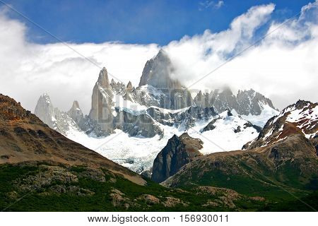 mount fitz roy in patagonia Chile argentina