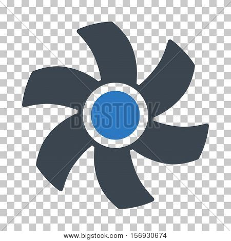 Rotor EPS vector icon. Illustration style is flat iconic bicolor smooth blue symbol.