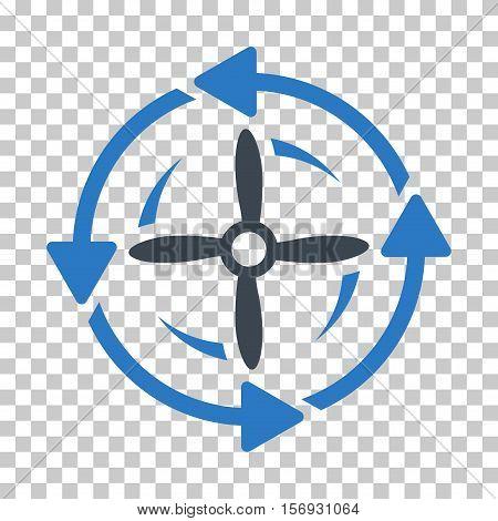 Screw Rotation EPS vector pictograph. Illustration style is flat iconic bicolor smooth blue symbol.