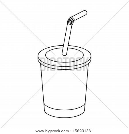 Coca-Cola icon in outline style isolated on white background. Fast food symbol vector illustration.