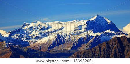 Leone Mountain seen from Mottarone Mountain, Verbano Cusio Ossola , Piedmont, Italy, Europe
