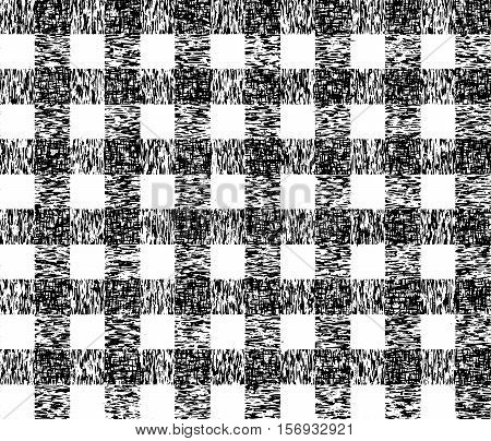 Checkered grunge pattern. Pattern of grunge lattice. Vector seamless