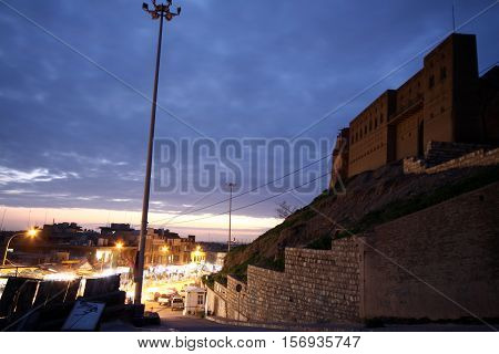 Old Arbil Castle in Arbil, Kurdistan, Iraq.