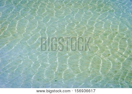 Water Surface At Chaqia Salt Lake, Qinghai, China