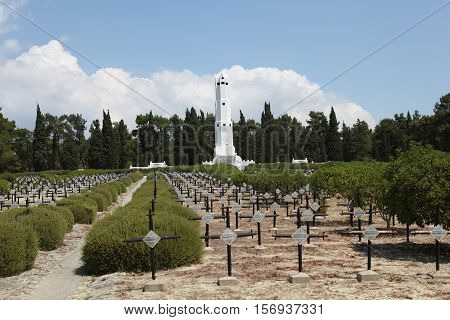 French Cemetery in Gallipoli peninsula, Canakkale, Turkey.