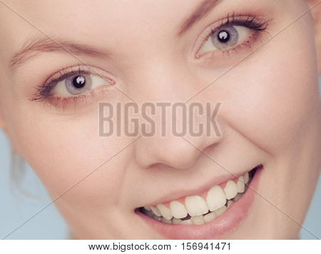 Smiling Woman Face With Make Up.