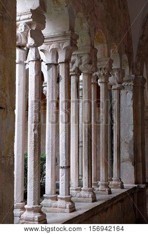 DUBROVNIK, CROATIA - DECEMBER 01: Cloister of the Franciscan monastery of the Friars Minor in Dubrovnik, Croatia on December 01, 2015.