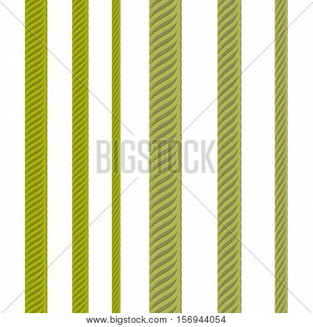 Set of Metal Cables Isolated on White Background. Nautical Rope