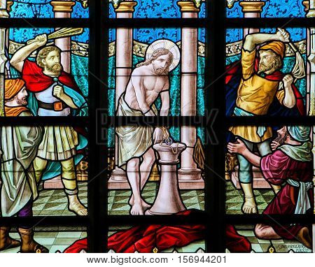 Stained Glass - Flagellation Of Jesus