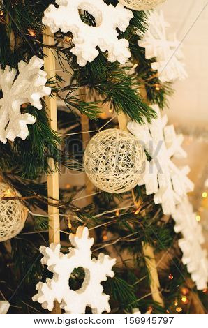 Christmas gifts under the tree ecological style