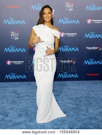 Nicole Scherzinger at the AFI FEST 2016 Premiere of 'Moana' held at the El Capitan Theatre in Hollywood, USA on November 14, 2016.