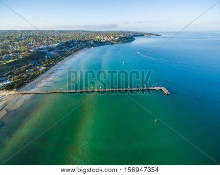 Aerial View Of Frankston Pier, Melbourne,  Australia