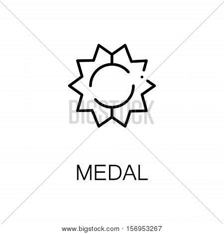 Award flat icon. Single high quality outline symbol of medal or other award for web design or mobile app. Thin line signs of award for design logo, visit card, etc. Outline pictogram of award