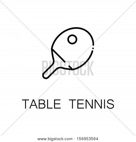 Table tennis flat icon. Single high quality outline symbol of sport for web design or mobile app. Thin line signs of table tennis for design logo, visit card, etc. Outline pictogram of table tennis