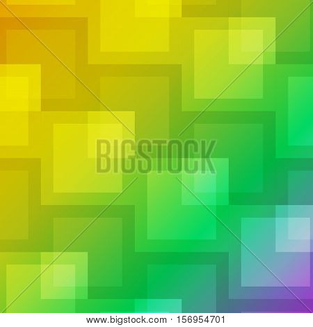 Square shape abstract on colorful background, stock vector