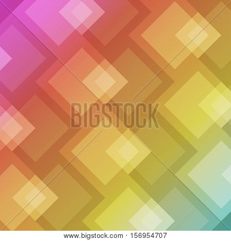 Abstract square shape on colorful background, stock vector