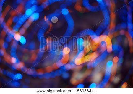 Celebration motion blur background. Horizontal colorful photo