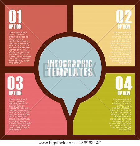 colorful infographic template with presentation with numbers. vector illustration