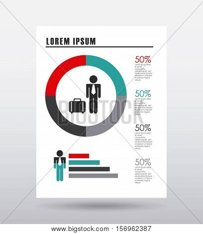 colorful infographic statistic template presentation. vector illustration
