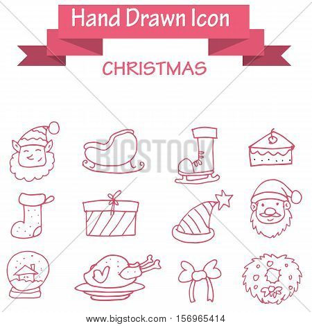 Collection stock of Christmas icons vector art