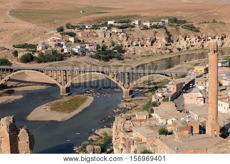 Old Hasankeyf Village in Batman, East Anatolia, Turkey.