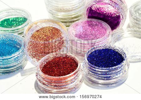 Set Of Colorful Nail Glitter