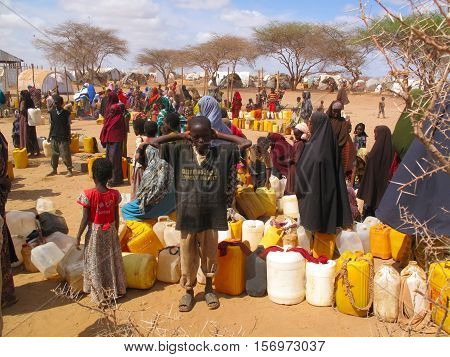 DADAAB, SOMALIA-AUGUST 15: Unidentified children live in the Dadaab refugee camp where thousands of Somalis wait for help because of hunger on August 15, 2011 in Dadaab, Somalia.