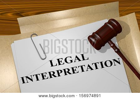 Legal Interpretation Concept