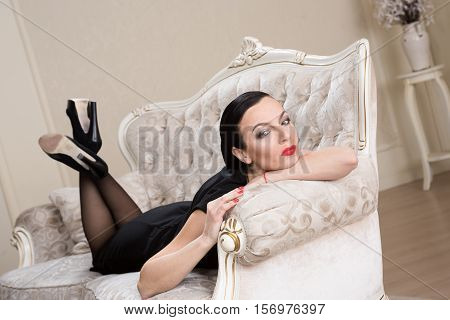 Portrait Of A Woman In A Black Dressportrait Of A Woman In A Black Dressportrait Of A Woman In A Bla