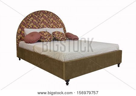 double bed isolated under the white background
