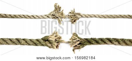 Old rope that is about to crack