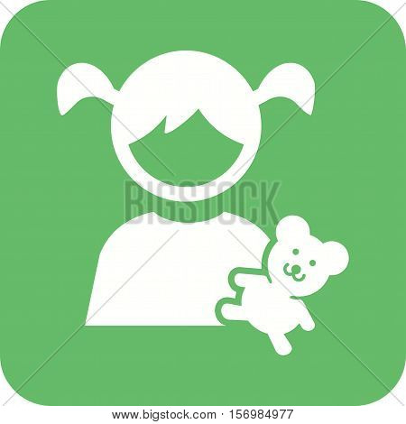 Teddy, bear, child icon vector image. Can also be used for kids. Suitable for web apps, mobile apps and print media.