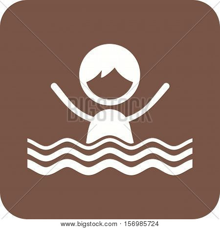 Swimming, pool, kids icon vector image. Can also be used for kids. Suitable for web apps, mobile apps and print media.
