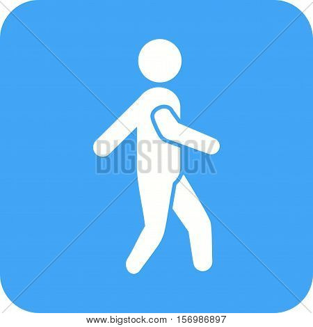 Running, kids, sports icon vector image. Can also be used for kids. Suitable for web apps, mobile apps and print media.