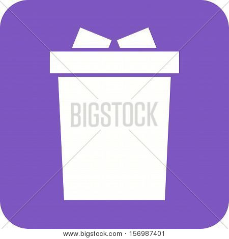 Garbage, bin, warning icon vector image. Can also be used for warning caution. Suitable for mobile apps, web apps and print media.