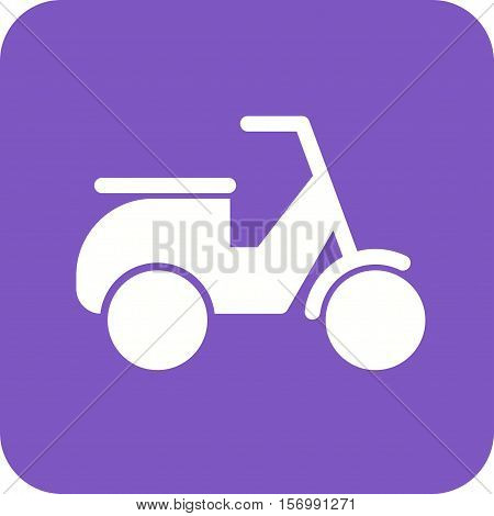 Scooter, vespa, speed icon vector image. Can also be used for vehicles. Suitable for mobile apps, web apps and print media.