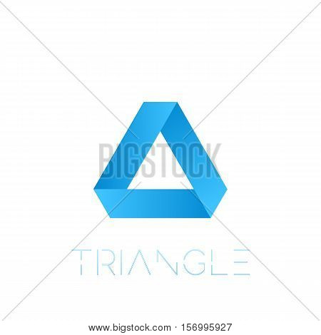 Penrose triangle with nice gragient and typography