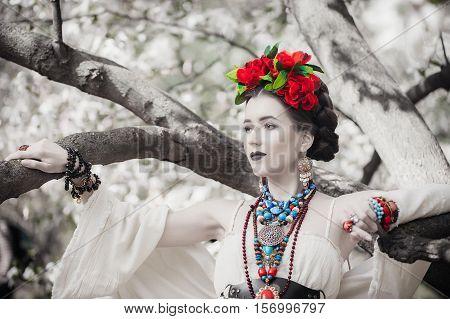 Beautiful Young Mexican Woman Posing