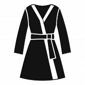 Bathrobe icon. Simple illustration of bathrobe vector icon for web design poster