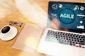 AGILE Agility Nimble Quick Fast Concept agile, agilely, agileness, agility, analysis, browsing, businessman, coffee, poster